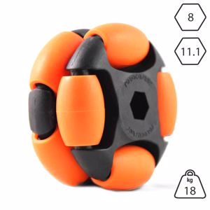 Picture of Rotacaster 48mm Double 65A Medium Polyurethane Roller 8mm Hex Bore