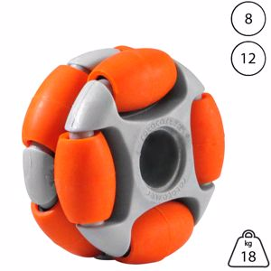 Picture of Rotacaster 48mm Double 65A Medium Polyurethane Roller 8mm Plain Bore
