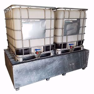 Picture of Double IBC Bund - Galvanised Metal for 2 x 1000 Litre